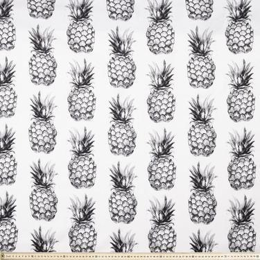 Pineapple Fabric White 150 cm