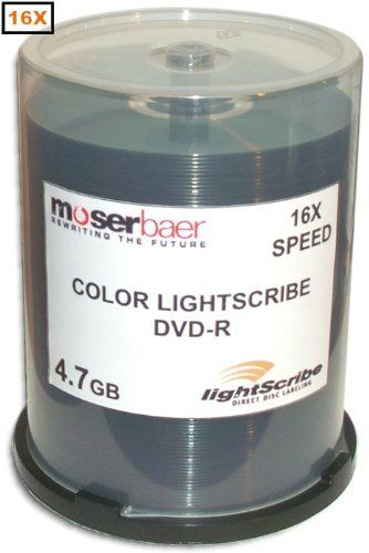 MBI 16X 4.7GB COLOR Lightscribe Direct Disc Labeling DVD-R's 100-Pak in Cakebox by MBI. Save 9 Off!. $49.99. Color LightScribe Direct Disc Labeling is a technology that offers consumers and businesses a simple, no-hassle way to burn professional, silkscreen-quality labels on their discs. Using the same laser that burns data in their disc drives, customers burn their data as always, flip the disc over, reinsert it into the drive and burn a precise and permanent iridescent label.