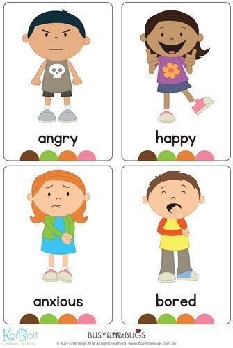 Emotions Full Body Flash Cards