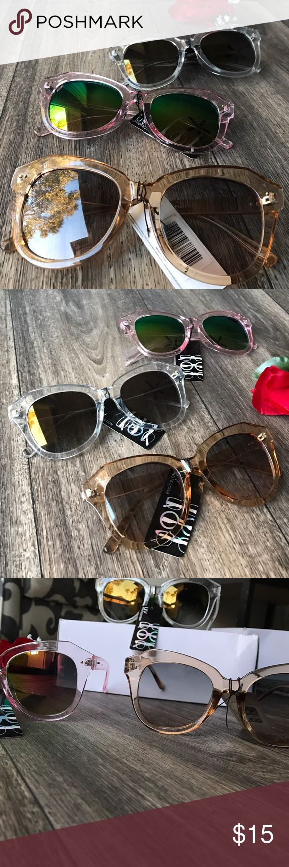 Sunny Shades 👓 400 UV Cute Shades!🕶 Amazing tint - I ship SAME DAY and w/FREE GIFT💋 -->(This listing is for 1 PAIR)<-- - - - • Brand New Boutique Item ! • Don't forget to Bundle ! • I Accept Offers  • Instagram : @ExcuseMyBeat Accessories Glasses