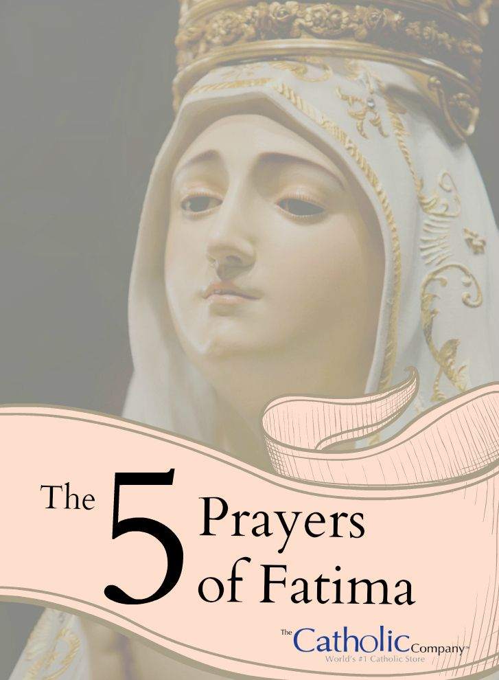The Five Prayers Taught at Fatima by Our Lady and the Angel- I know one by heart- but I had forgotten the others. It is 98 years since Fatima.