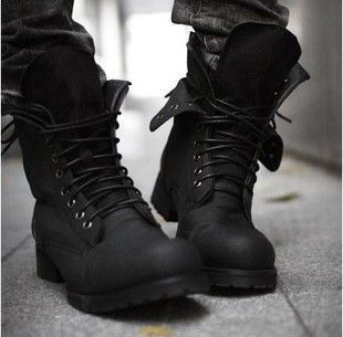 Men's Retro Combat boots 2016 new arrival autumn Winter style fashion short motorcycle boots Black Brown shoes