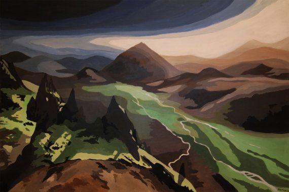 Icelandic Mountians - Acrylic Painting
