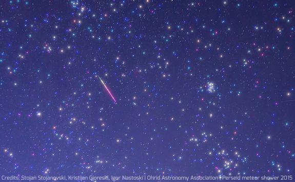 fotos da chuva de meteoros perseidas
