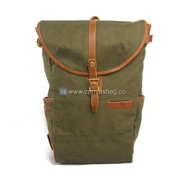 Canvas Rucksack | Genuine Leather Canvas Bag Wholesale
