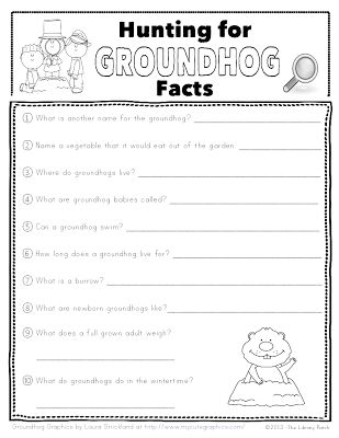 Hunting For Groundhog Facts - Pinned by @PediaStaff – Please Visit ht.ly/63sNtfor all our pediatric therapy pins