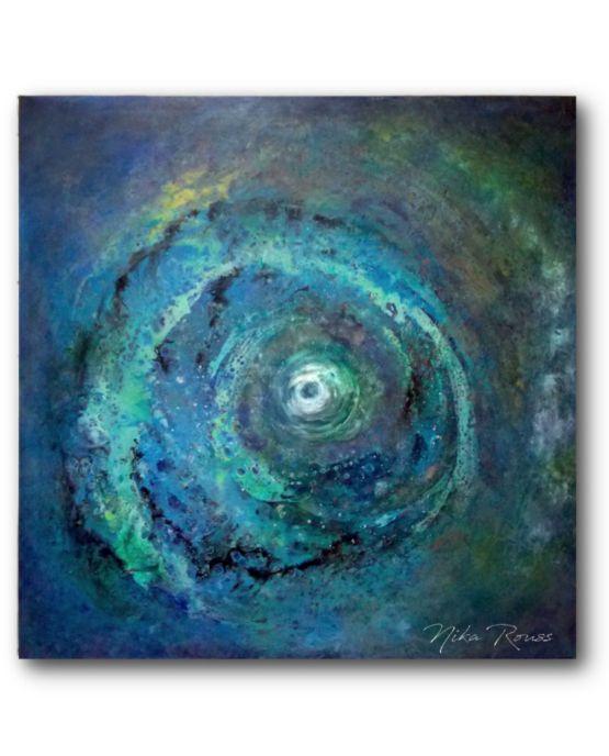 Abstract Fluid Cosmic Art Painting Nika Rouss