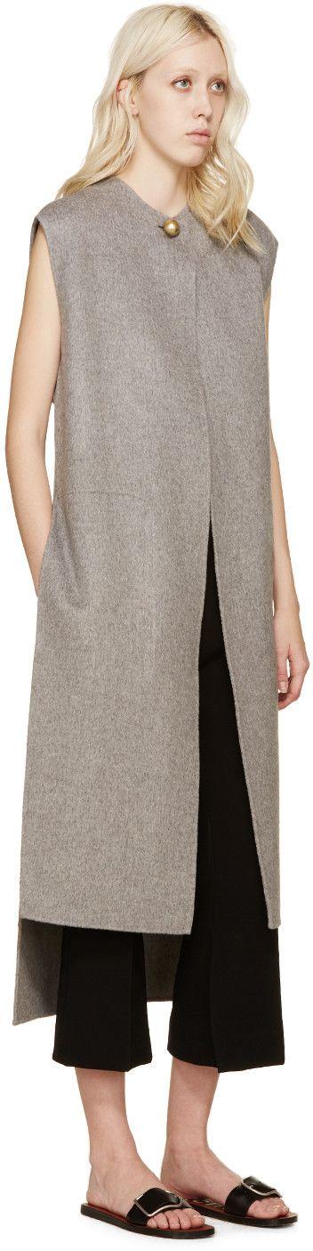 Acne Studios - Grey Wool Long Vento Vest