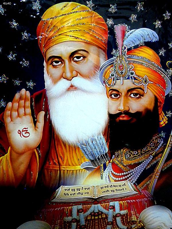 The Sikh Gurus, Guru Nanakji n Guru Gobind Singhji ❤️☀️