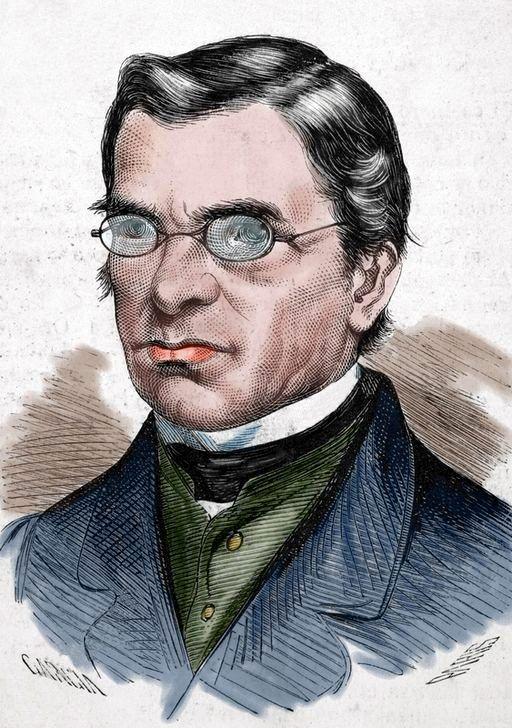 2 juin 1881 : mort du lexicographe et philosophe Émile Littré. Illustration : Émile Littré. Gravure (colorisée) de 1872