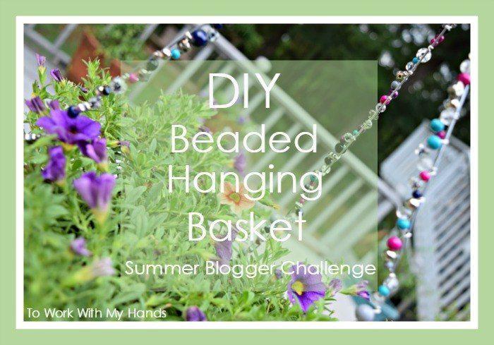 DIY Beaded Hanging Basket