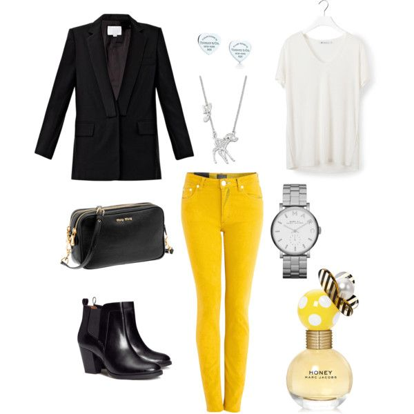 Yellow jeans. Outfit no.2