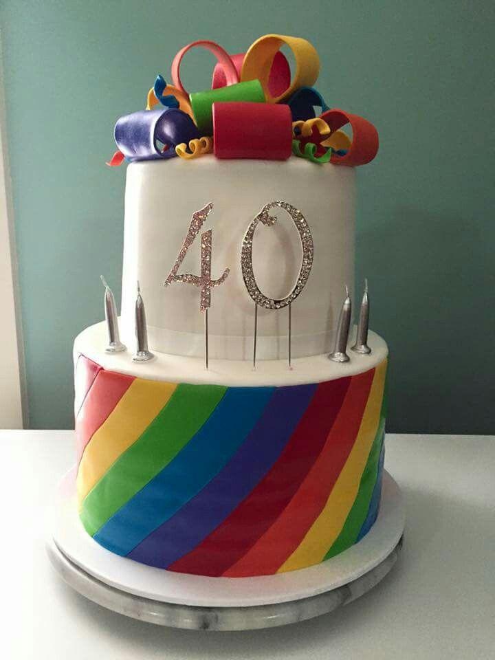 My amazing 40th Birthday cake. Created Cakes to treasure by Glenda @glendah