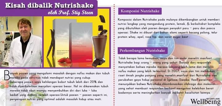 Penemu NUTRISHAKE Oriflame. Feel Great Look Great!