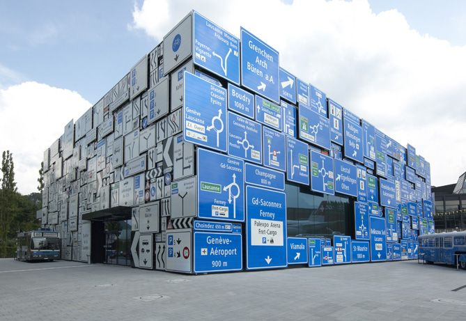 Swiss Museum of Transport, Road Transport Hall, Lucerne.  Design by Gigon/Guyer Architekten.