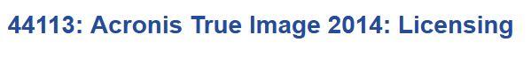 Acronis True Image 2014: Licensing | Knowledge Base