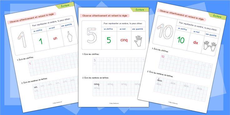 Écriture – Apprendre à écrire les chiffres en lettres