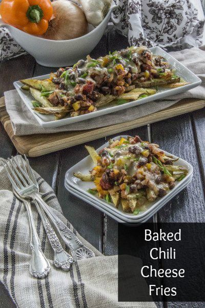 Baked Chili Cheese Fries #healthy