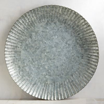 Galvanized Windmill Iron Charger Plate Farmhouse Chic