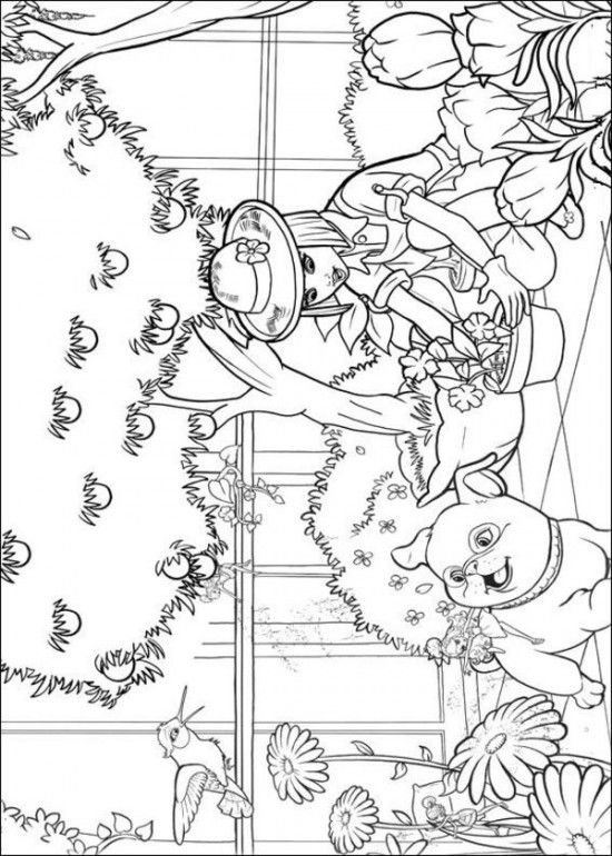 Free Coloring Sheets of Barbie Thumbelina Printable Picture 6 550x770 Picture