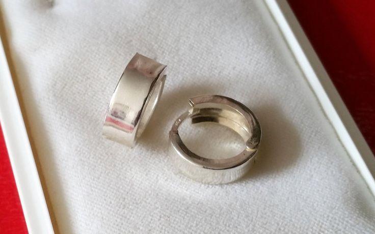 Vintage Ohrhänger - Creolen Ohrringe Silber 925 Vintage schlicht SO162 - ein Designerstück von Atelier-Regina bei DaWanda