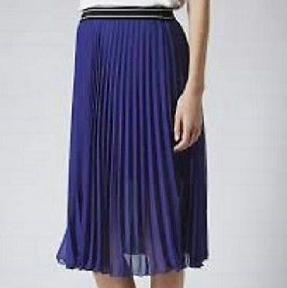 TOPSHOP MATERNITY Women's Cobalt Blue Pleated Midi It's from Topshop Maternity collection but can be worn by anyone size 4. Topshop Skirts Midi