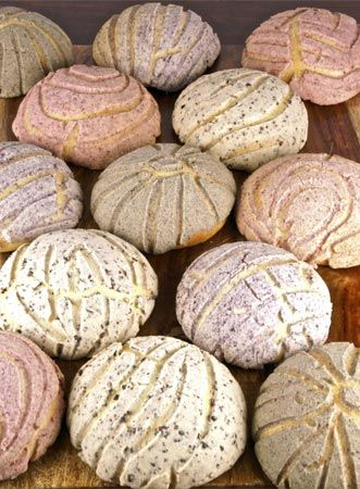 conchas (mexican sweet bread)- reminiscing about getting tons of these from the mexican bakeries in california.