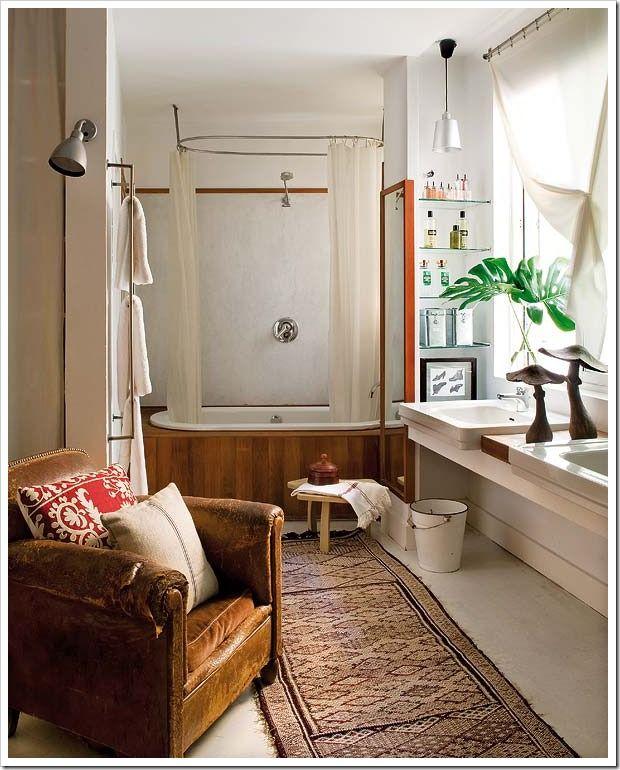 122 best Bohemian Decor Bathrooms images on Pinterest   Room, Home ...