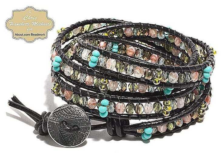 Chan Luu Style Leather and Bead Wrap Bracelet Tutorial