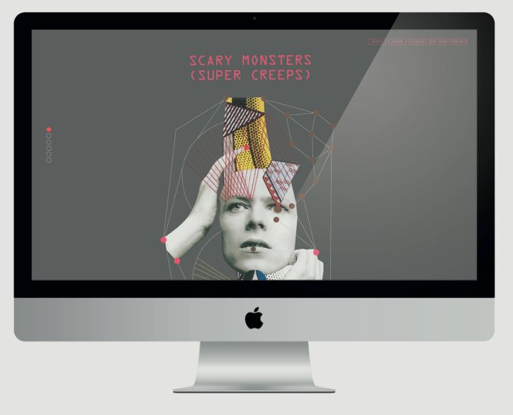 Paulina Wasik   David Bowie - Scary Monsters, Super Creeps   landing page