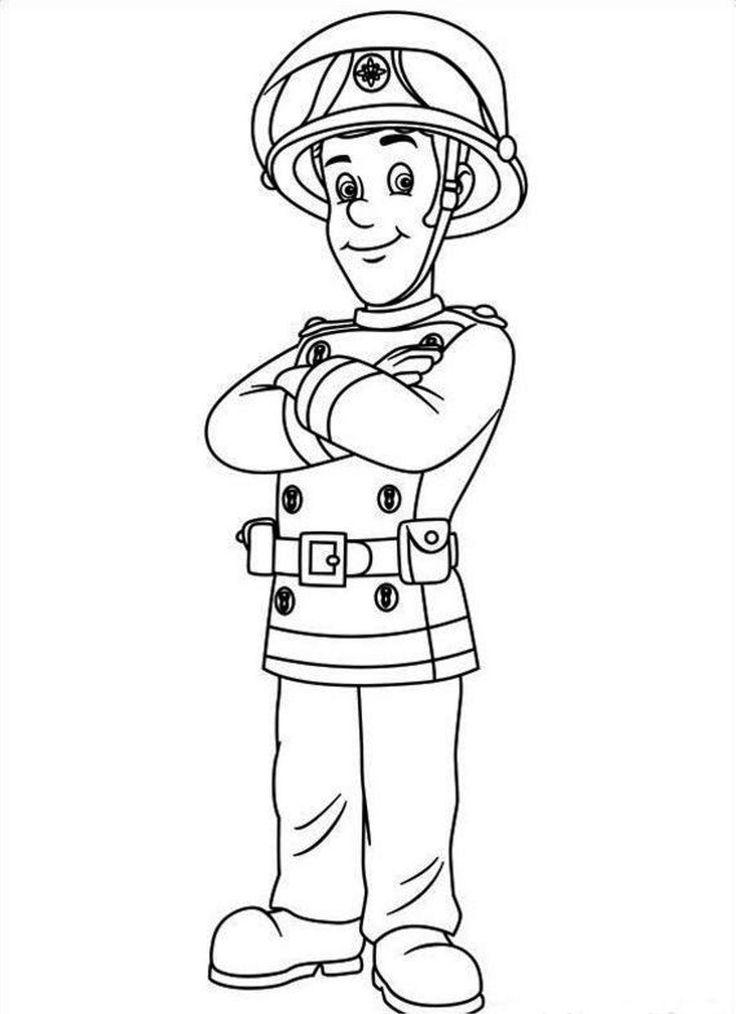 Fireman Sam Coloring Pages   Fireman sam, Cartoon coloring ...