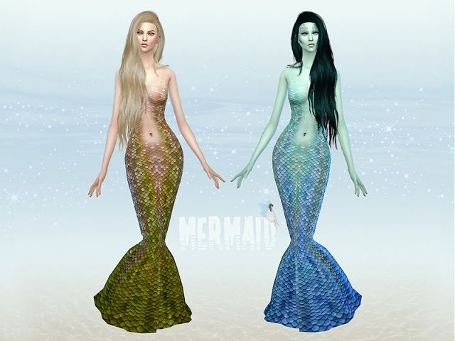 Sims 4 CC's - The Best: Mermaid Costume by Ms Blue