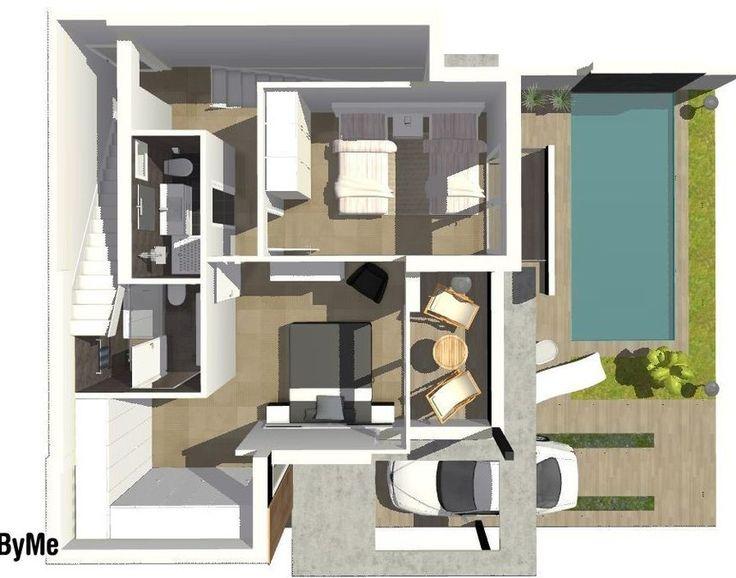 2639 best planos de casas con piscina images on pinterest for Planos de casas con piscina