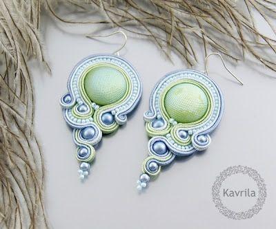 K Avril - Jewellery author. soutache Christolite Crayon Soutache. earring length 7cm