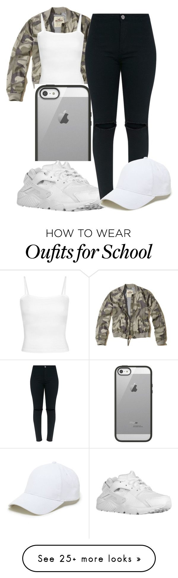 """~Ran Down On That Chick Twice‍♀️~"" by camcam-lolzz on Polyvore featuring Hollister Co., Belkin, NIKE and Sole Society"