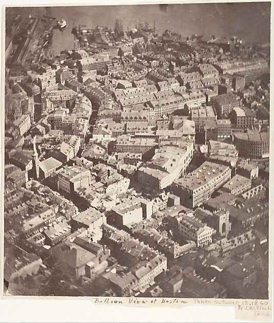 A view of Boston, the oldest surviving aerial photograph ever taken. October 13th, 1860