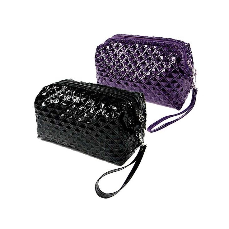 TEXTURED COSMETIC BAG