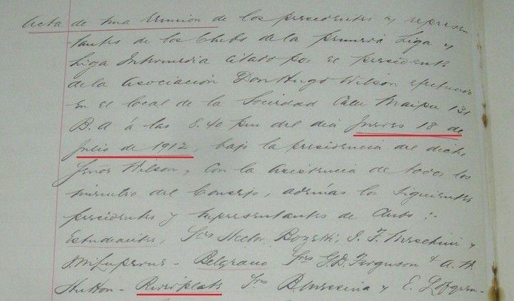"""Hace 105 años Boca estaba en la """"B"""" y ascendió con el escritorio (y el apoyo de River)"""