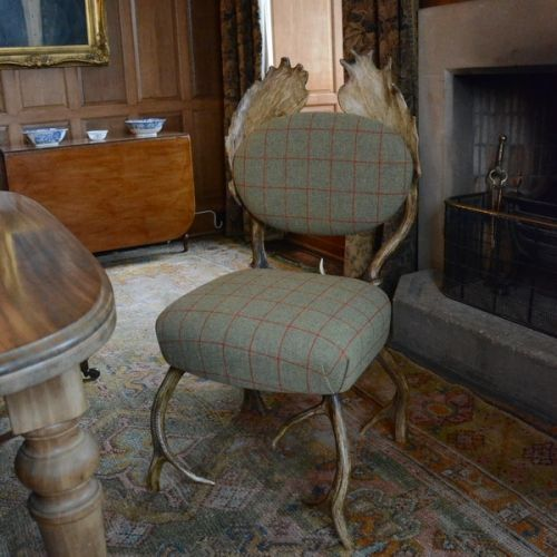 holy crap. I need this. Tweed antler chair.