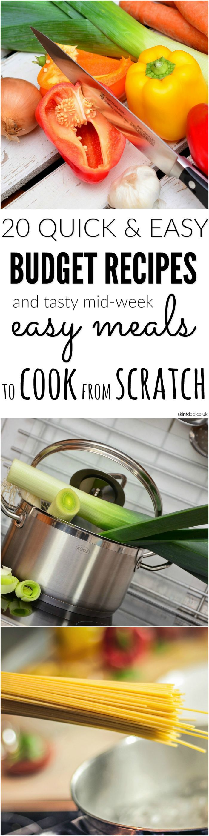 Instead of turning to a jar when cooking, check out these budget recipes which are easy to cook, purse friendly and can be made from scratch in no time.