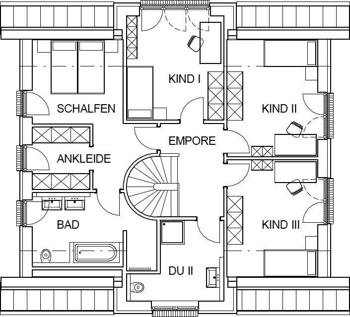 Landhaus Grundriss Dachgeschoss mit 85,63 m² Wohnfläche ähnliche Projekte und Ideen wie im Bild vorgestellt findest du auch in unserem Magazin