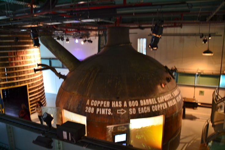 Inside the Guinness brewery