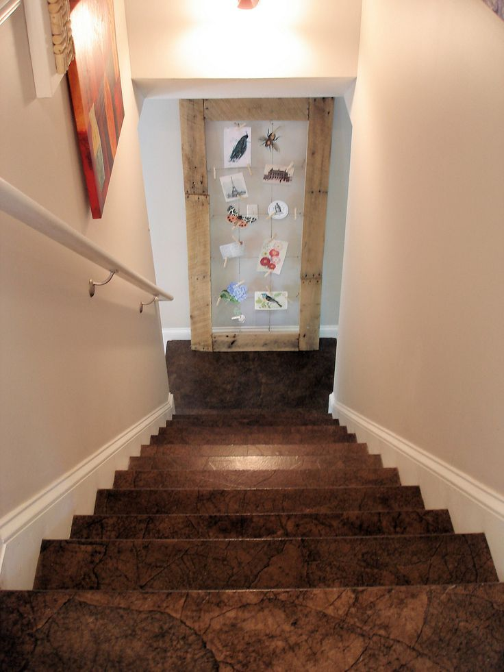 Brown Paper Flooring - yep, paper bags torn, stained and covered on sub floors.  I think I like it.  Kinda looks like cork.