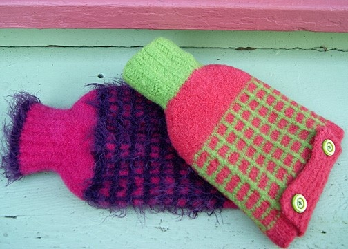 Hot Water Bottle Cozy  Knitting Pattern by entrelaccat on Etsy, $6.00