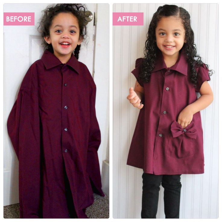 15+ Creative Ways To Repurpose Men's Shirt Into Little Girl's Dress -- From Daddy's Work Shirt to Toddler Tunic