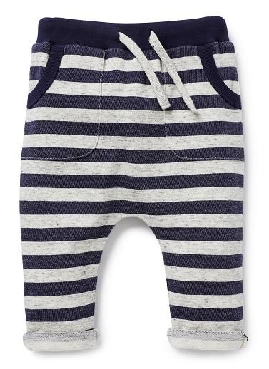 Baby Boys Pants & Shorts   Stripe Harem Pant   Seed Heritage