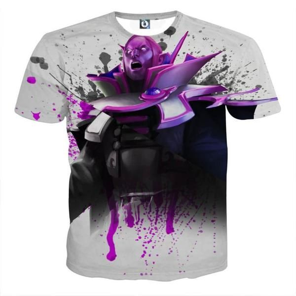 Invoker White and Black Cool Shirt Art Style 3D Printed Invoker T-Shirt