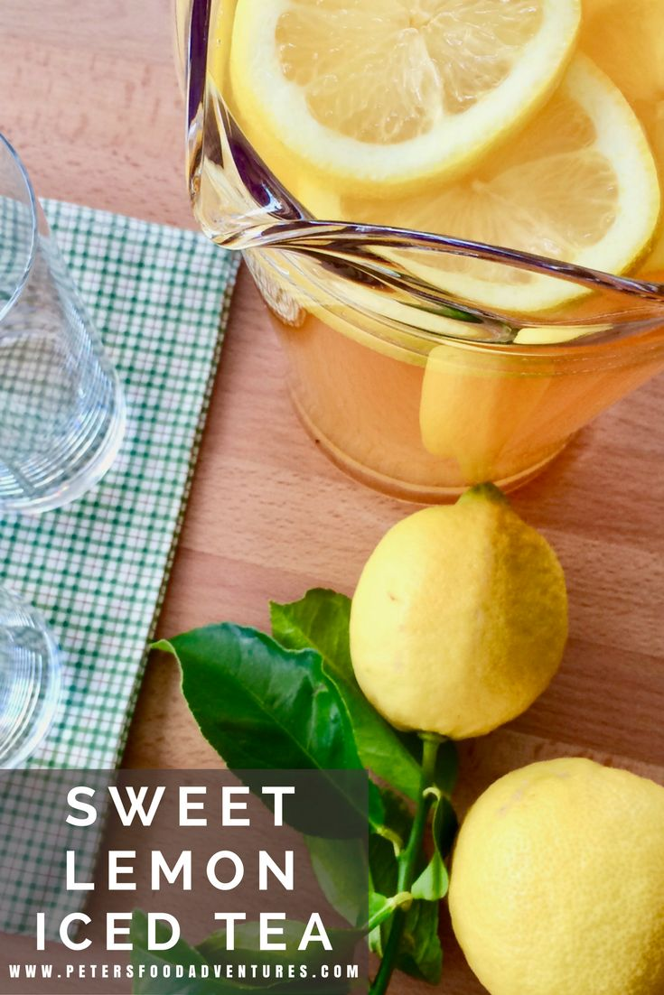 Real Iced Lemon Sweet Tea. This classic recipe perfect for the summer. So easy to make with freshly squeezed lemons and black tea!