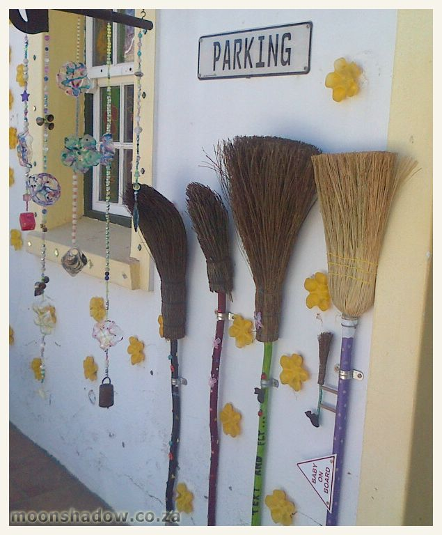 VIP parking for those who prefer to travel by broom.   #Swellendam #Overberg #SouthAfrica