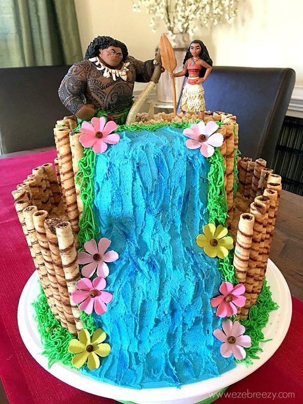 Disney Moana Birthday Cake   Moana Party Ideas   Pretty My Party